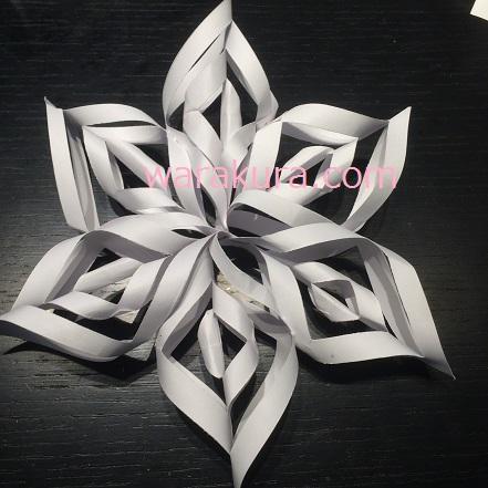 クリスマス 折り紙 雪の結晶 折り紙 簡単 子ども : warakura.com